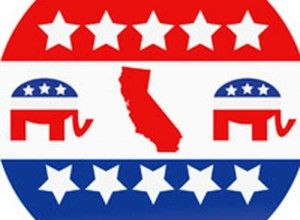 California Republican Party button