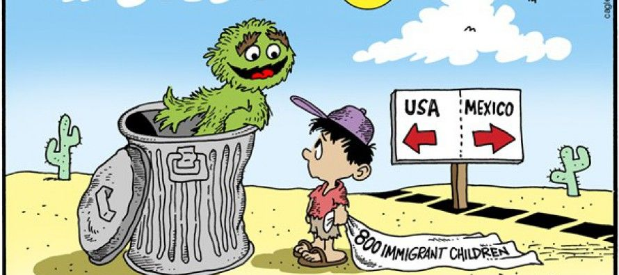 Cartoon: Immigration children