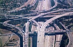 Los Angeles freeway, wikimedia