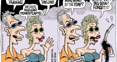 Cartoon: Californians vs. fracking