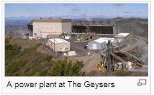 Geysers geothermal power plant, wikimedia