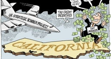 Cartoon: CA money bomb