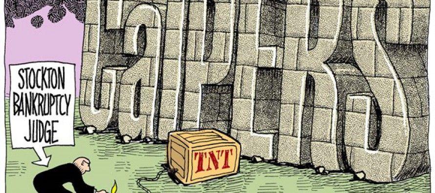 Cartoon: CalPERS and Stockton