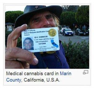 Medical marijuana card, wikimedia