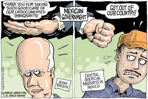 Mexico, Brown, Immigrants, Wolverton, Cagle, Sept. 1, 2014