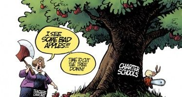 Cartoon: Unions vs. charter schools