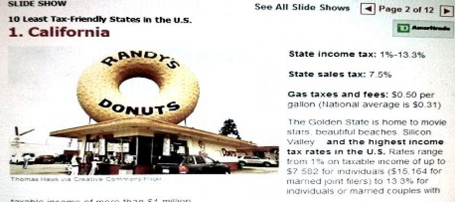 Kiplinger: CA taxes highest — and state hostile to retirees, too