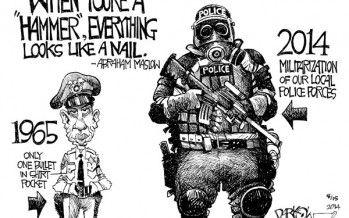 Cartoon: Militarization of police