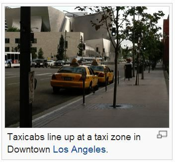 taxis los angeles, wikimedia