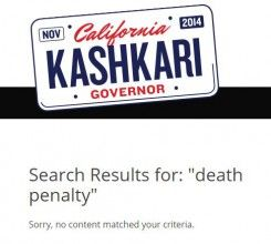 Kashkari death penalty
