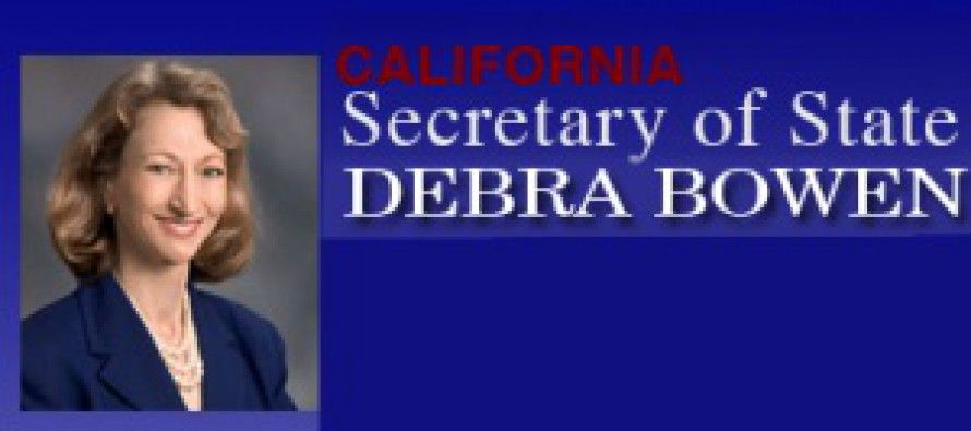 Debra Bowen revelations appear to explain her failure on job