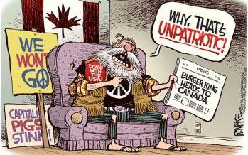 Cartoon: Burger King to Canada