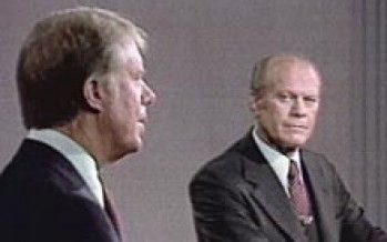 In debate gaffe, Jerry Brown channels Gerald Ford