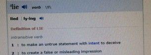 lie.definition