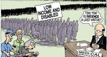 Cartoon: Medi-Cal lines