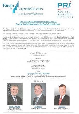 PRI Corporate Directors meeting, Oct. 23, 2014