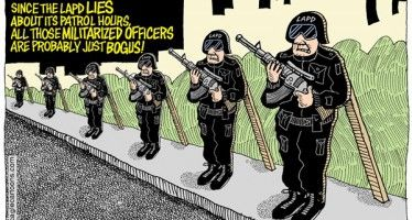 Cartoon: LAPD records