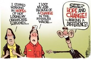 minimum wage, Rick McKee, Cagle, Oct. 8, 2014