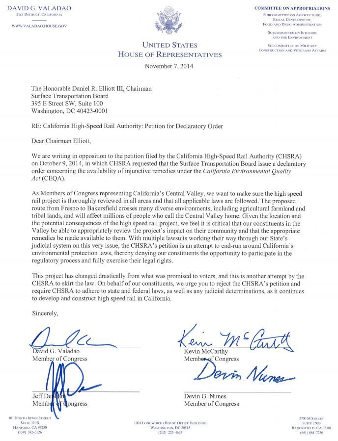 Valadao letter