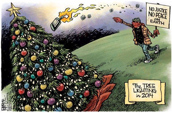 Tree lighting riots, McKee, Cagle, Dec. 1, 2014