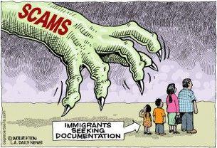 immigration scams, wolverton, cagle, Dec. 8, 2014