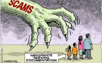 Cartoon: Immigration scams