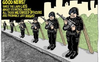 Cartoon: LAPD body cams