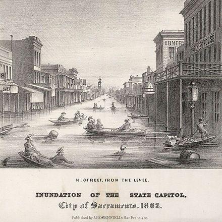 Sacramento flood 1862