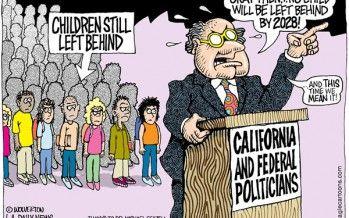 Cartoon : Kids left behind