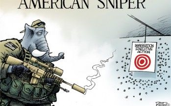 Cartoon: GOP immigration sniper