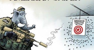 Cartoon: GOP immigration sniper