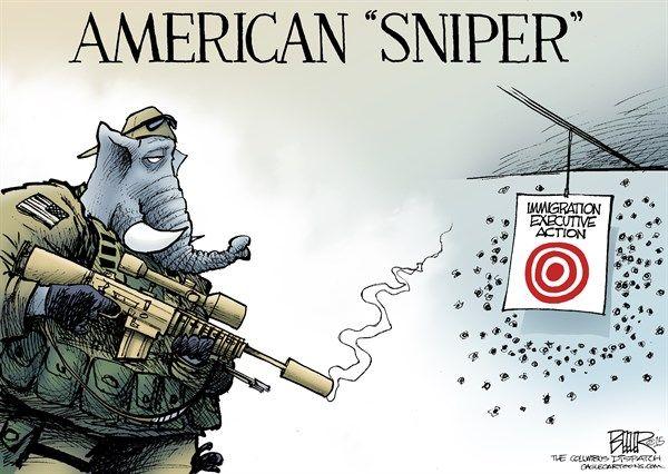GOP american sniper, Beeler, cagle, Feb. 9, 2015