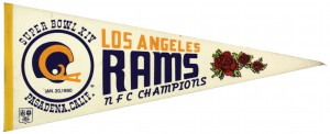 Los Angeles Rams pennant - long