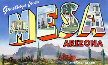 Mesa, arizona postcard