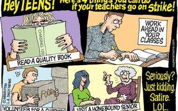 Cartoon: Teacher strike