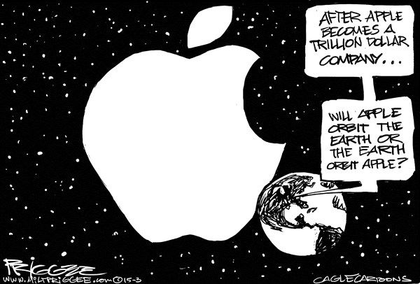 apple in orbit, milt priggee, cagle, March 16, 2015