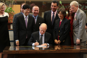 brown school funding signing, governor's site