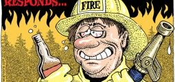 CARTOON: CalFire binge drinking