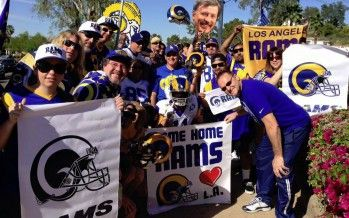 NFL heavy hitters meet in AZ; continue momentum toward L.A. franchise