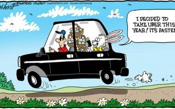 CARTOON: Easter Bunny Discovers Uber