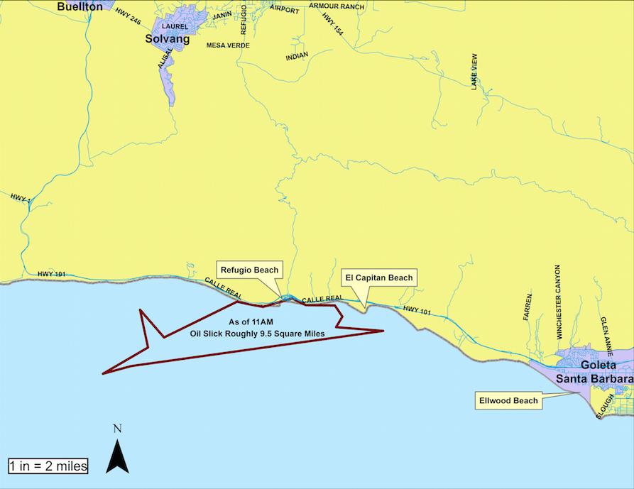 Oil perimeter map as of May 20, 2015
