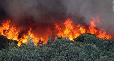 Brown declares fire emergency