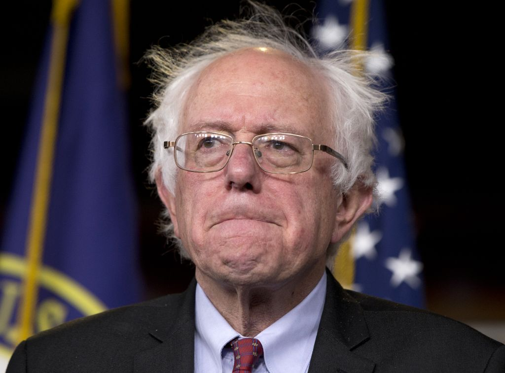"Sen. Bernie Sanders, I-Vt., participates in a news conference on Capitol Hill in Washington, Wednesday, April 29, 2015. Sanders will announce his plans to seek the Democratic nomination for president on Thursday, presenting a liberal challenge to Hillary Rodham Clinton. Sanders, an independent who describes himself as a ""democratic socialist,"" will follow a statement with a major campaign kickoff in his home state in several weeks. Two people familiar with his announcement spoke to The Associated Press under condition of anonymity to describe internal planning. (AP Photo/Carolyn Kaster)"
