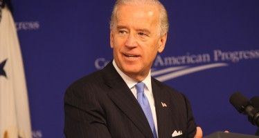 Protester booted from Biden speech