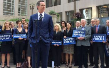 CA Democrats challenge Lt. Governor Newsom on gun control