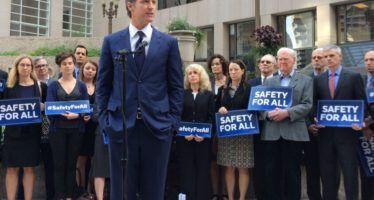 CA Democrats challenge Lt. Governor Newsom on gun control