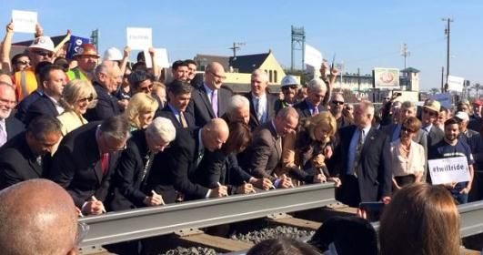 High speed rail signing