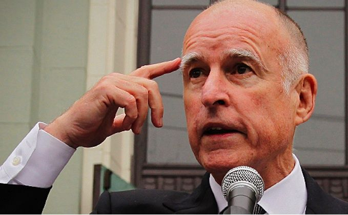 Jerry Brown thinking
