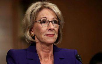 Education Secretary DeVos explicitly OKs controversial state school evaluations